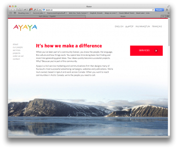 Ayaya Website